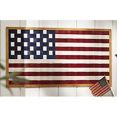 The American Flag as only Longaberger can do it! This Large Americana Wall Flag is woven entirely of maple splints by our artisan basketmakers in the U.S.A. (Featured in our May 2014 Wishlist)