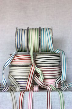 Ribbon.  I use it in my scrapbooks.  If I find some pretty ribbon, I have to buy it!