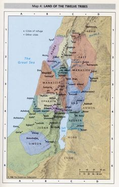 Map of the 12 Tribes of Israel
