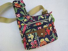 Lily Bloom womens crossover bag multi-color floral NWT eco-friendly