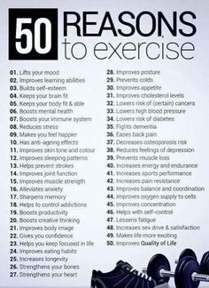 50 reasons to exercise.