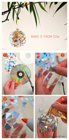 Use Your CDs to Make Christmas Ornaments