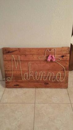 Personalized baby board! Repurposed pallet 4f61a30844e0