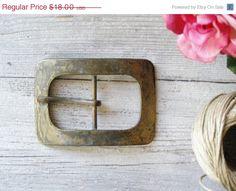 Vintage Oxidized Bronze shade Belt Buckle Unisex by MeshuMaSH