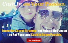 learn how to cash in on your passion. Register for this live training Mirrored Sunglasses, Mens Sunglasses, Rat Race, 13 Reasons, Home Based Business, My Passion, Training, Live, Blog