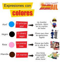 Ya conocéis los colores en #español, pero seguramente no conozcáis las expresiones que habitualmente se usan con ellos. Aquí una pequeña lista #learnspanish #studyspanish #spanishexpression