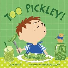 """For young students this rhyming text could ignite a discussion about foods that are """"too"""" slimy, chunky, salty, sweet or pickley. What a great way to get them thinking about their opinions."""