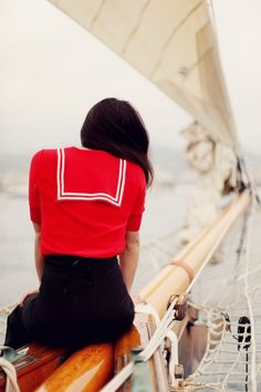 i wish i could wear cute nautical clothing when im on my boats! :(