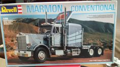 1/25 MARMON CONEVNTIONAL SEMI TRUCK OPEN UNBUILT OLD STOCK KIT FOUND IN STORAGE #Revell