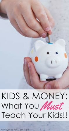 Teach Kids about money -- Learn what age to teach your kids about money including savings, debit, credit and more. Kids and Money | Teaching Kids about Money | financial education | personal finance