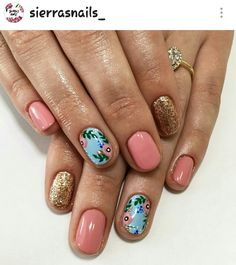 Are you looking for Simple Acrylic Nail Design Ideas For Short Nails For Summer See our collection full of Simple Acrylic Nail Design Ideas For Short Nails For Summer 2018 and get inspired! Fancy Nails, Love Nails, Diy Nails, How To Do Nails, Simple Acrylic Nails, Acrylic Nail Designs, Nail Designs Floral, Gel Semi Permanent, Uñas Diy