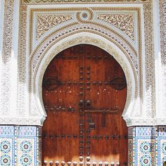 Morocco tiles and doors... inspiration overload x 10.