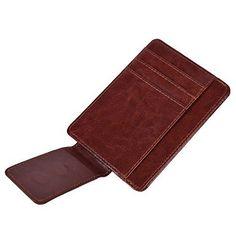 Mens Bat Shape Money Clip Classic Cash Credit Card Holder Money Organizer