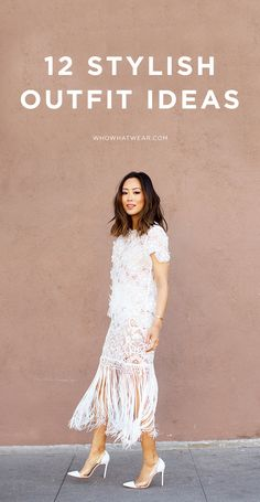 Aimee Song of Song of Style looks gorgeous and feminine in a white lace and fringe dress Song Of Style, Self Portrait Clothing, Estilo Hippie Chic, Lace Dress, Dress Up, Lace Outfit, Vogue, Moda Chic, Mode Inspiration