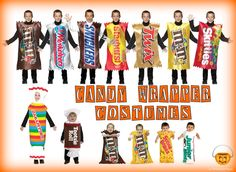 cute candy halloween costumes   Candy Wrapper Costumes - Dress up like your Favorite Candy ...