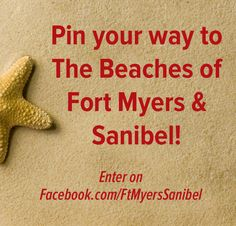 """Enter our Pinterest Contest to win a travel package to The Beaches of Fort Myers & Sanibel! Create a """"My Fort Myers & Sanibel Bucket List"""" board with at least 12 pins and enter its URL here: https://www.facebook.com/FtMyersSanibel/app_143103275748075?ref=ts"""
