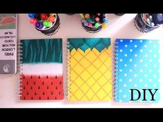 DIY: Cute and colourful notebooks -- a great project for anyone, but I can envision this as a slumber party activity