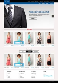 Shop'em All | Ecommerce PSD Template by saif71 on @creativemarket