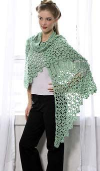 Crochet Shawl for Summer | FaveCrafts.com lots of free patterns