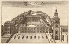 Christ's Hospital, Newgate, London. STOW/STRYPE, antique print 1720