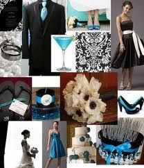 blue, black, and white...like my wedding =]