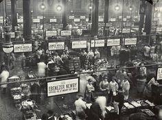 B346 Inside Billingsgate Market c1910