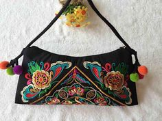 Embroidered Bag National Handmade Fabric Embroidery One Shoulder Crossody Women Messenger Clutch