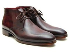 Paul Parkman Men's Chukka Boots Brown & Bordeaux  $520. (ID#CK43E8)