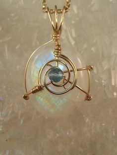 Rainbow Moonstone Necklace, 14k Gold Filled, Faceted Blue Topaz Accent Bead, June Birthstone, Strong Blue Flash Moonstone, AAAA Moonstone.