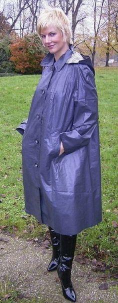 Blue Raincoat, Rain Wear, Women Wear, How To Wear, Jackets, Fashion, Women's, Down Jackets, Moda