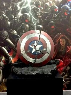 Captain America's cracked shield. Revealed at San Diego Comic Con