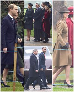 The Duke and Duchess and the Middletons walking to church this morning. Unfortunately there are no good photos of Kate's outfit yet but we can tell that she has on her Sportmax coat and Emmy 'Valerie' pumps again with a new hat. In the middle you can see Carole and Michael standing next to Sophie Carter - a longtime close friend of Kate's and one of Charlotte's godparents. She lives close by to The Duke and Duchess's Norfolk home and is a keen tennis player like Kate. No doubt she is also…
