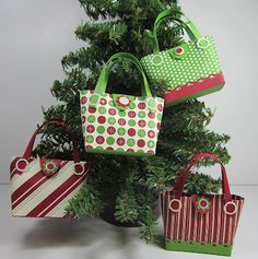 Inking Idaho: 6th Day of Christmas  mini bags for treats Stampin Up