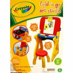 I'm learning all about Crayola Grow n Up  Fold n Go Art Studio at @Influenster!
