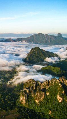 Floating through the air in Vang Vieng, Laos.