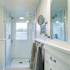 shower + towel hooks