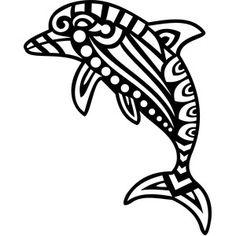 Silhouette Design Store - View Design #148751: tribal dolphin