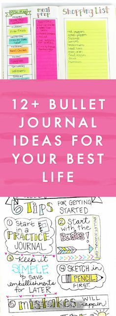 Have you heard of bullet journaling? It's a visual and creative approach to journaling that helps you keep track of things in your life and plan out your days and weeks visually on paper. It's like using a planner but you get to create your own pages however you want! Here are 12 bullet journal ideas for improving your life. #bulletjournal #bujo #bulletjournaling #bulletjournalideas #journal #journaling #journalingideas