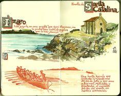 de vuelta con el cuaderno: Cuaderno Muaré (2. Mundaka) Santa Catalina