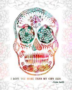 Day of the dead skulls clip art da de muertos clip art instant frida fandeluxe Images