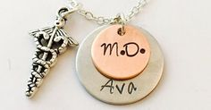 Just Pinned to PINTEREST BAZAAR - NO LIMIT ADVERTISING: Doctor Necklace Medical Doctor Necklace M.D. Necklace Med Student Gift Personalized Doctor Necklace Physicians Assistant Necklace http://ift.tt/2f7st49