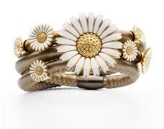 Triple wrapped bracelet for spring.