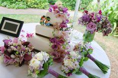 wedding cake maui purple