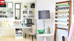 Tracie Stoll's craft room and office makes her work tools the decor focus.