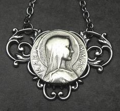 Blessed Mother Antique French Silver Holy Medal by 12StarsVintage This represents thy r charmed with Dave & I and think we deserve a medal for enduring/surviving the past 11 years. Thank you.