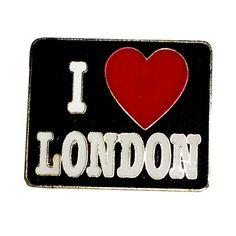 """I Love London"" British, London, England UK Lapel Pin Badge Souvenir"