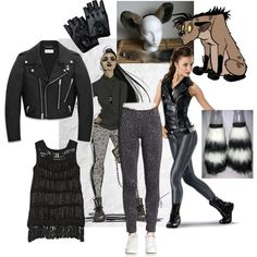 Hyenas Costume by rachael-nicole-henry on Polyvore featuring Maiyet, Yves Saint Laurent, Saks Fifth Avenue and Disney