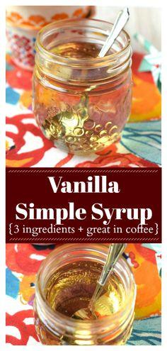 Coffee Drink Recipes, Coffee Drinks, Triple Sec, Mojito, Vanilla Syrup For Coffee, Gin, Italian Cream Soda, Homemade Syrup, Cocktails