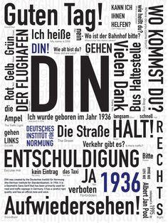 DIN Typeface Poster by Nandhini Mehra, via Behance