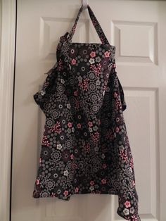 Flower print nursing cover with Ric Rac by CrazyPresCreations, $10.00